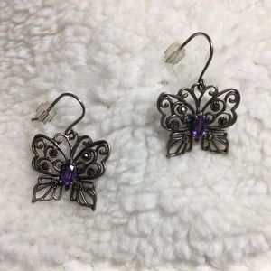 Jewelry - Sterling silver and marcasite butterfly earrings
